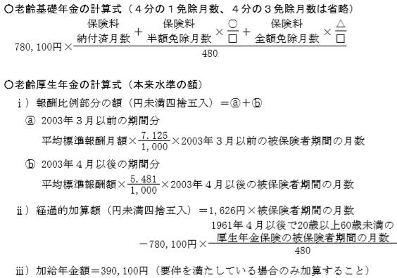老齢基礎年金FP2級実技試験(個人資産)
